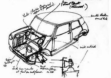 Issigonis-1-mini-prototype-sketch